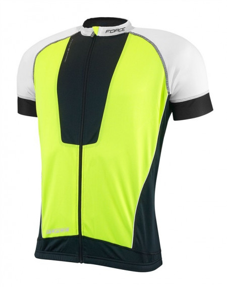 Tricou ciclism Force Air negru/alb/fluo M