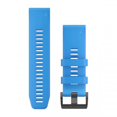 Curea Garmin Quickfit 26 silicon albastru cyan