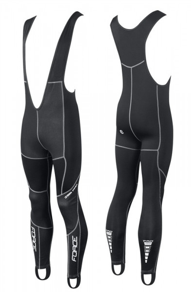 Pantaloni lungi cu bretele fara bazon Force Windster Z68 PRO negri L