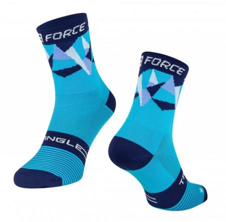 Sosete Force Triangle albastre S-M