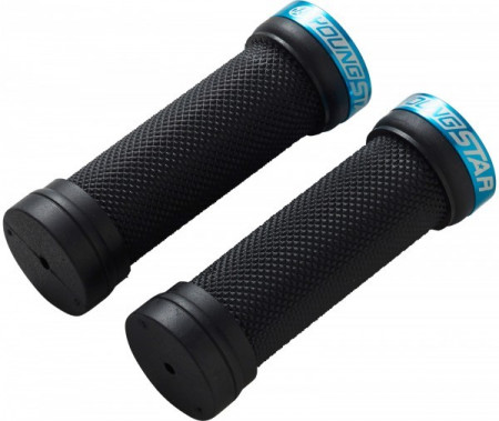 Mansoane Reverse Youngstar Lock-on 28x98mm negru/bleu