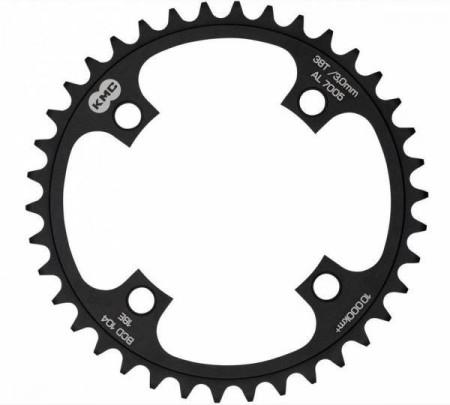 Placa pedalier KMC 38T BCD104 AL7075 Neagra