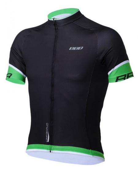 Tricou BBB ComfortFit maneca scurta BBW-246 negru/verde XL