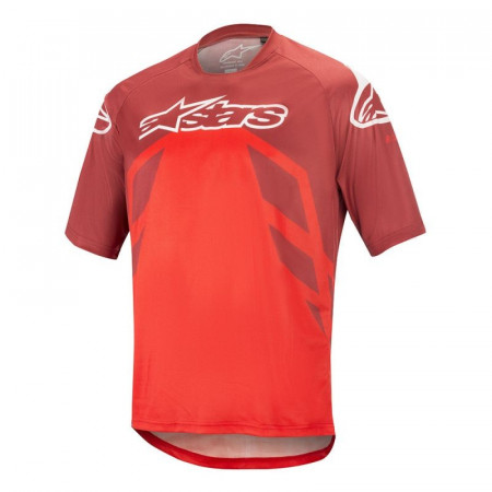 Tricou Alpinestars Racer V2 SS Burgundy/Red/White M