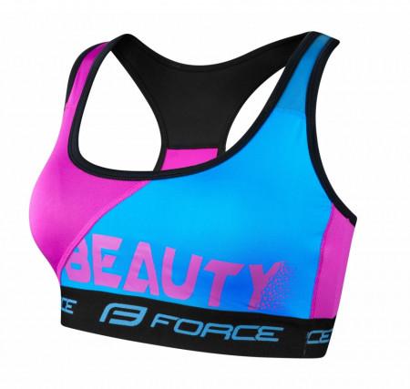 Bustiera sport Force Beauty albastru/roz XS