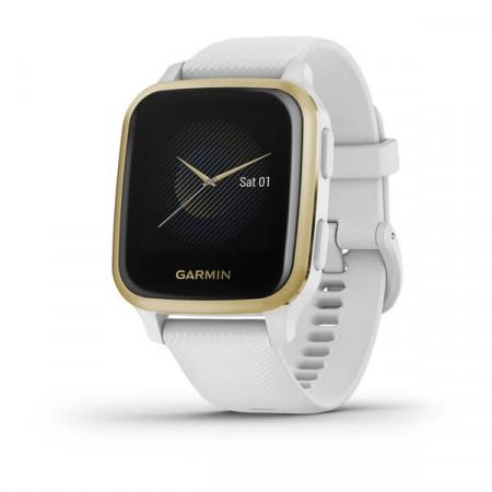 Ceas Garmin Venu SQ white, light gold