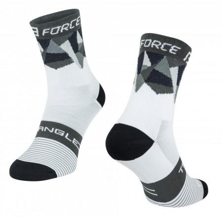 Sosete Force Triangle alb/gri/negru L-XL