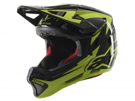 Casca Alpinestars Missile tech Airlift Black/yellow Fluo XL