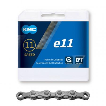 Lant KMC E11 EPT 11 Viteze 136 zale Ebike, Argintiu