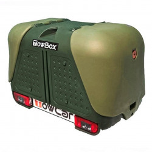 Cutie portbagaj pe carligul de remorcare Towbox V2 Verde