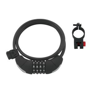 Lacat Force Lux spirala cod 120cm/8mm cu suport negru