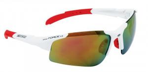 Ochelari Force Sport albi cu lentila rosie
