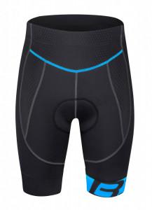 Pantaloni Force B30 Cu Bazon din Gel Negru/Albastru S