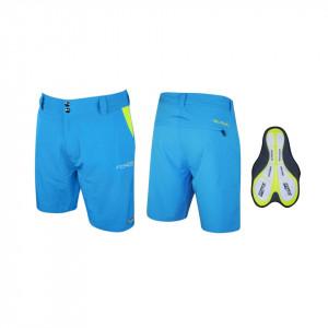Pantaloni Force Blade MTB cu sub-pantaloni cu bazon albastru L
