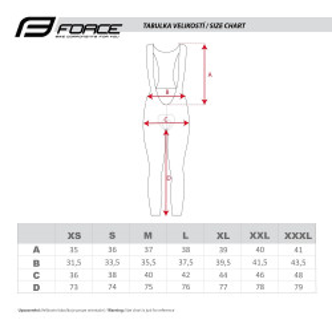 Pantaloni Force F58 cu bretele si bazon Negru-Fluo L