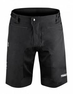 Pantaloni Force MTB-11 cu sub-pantaloni cu bazon Negri M