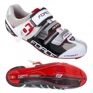 Pantofi Force Road Carbon negru/alb 40