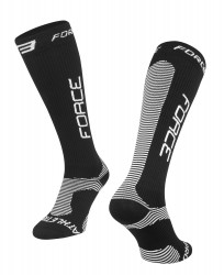 Sosete Force Athletic PRO Compress Negru/Alb L/XL