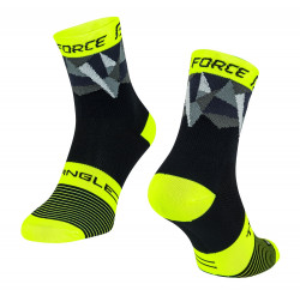 Sosete Force Triangle negru/fluo/gri S-M
