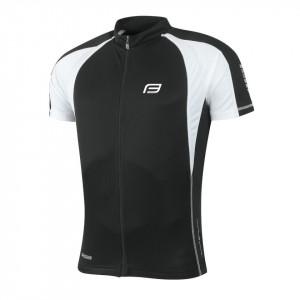 Tricou ciclism Force T10 negru/alb S