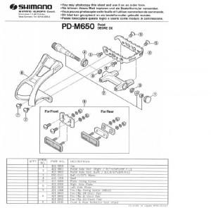 "AX PEDALA SHIMANO PD-M650 DREAPTA B.C.9/16"" X 20T.P.I."