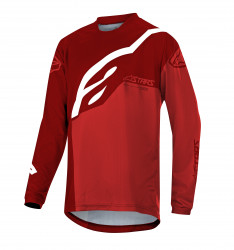 Bluza Alpinestars Youth Racer Factory LS Burgundy Red White XL