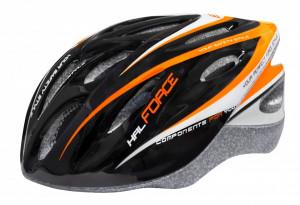 Casca Force Hal negru/portocaliu/alb XS-S (48-54 cm)
