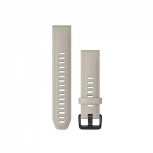Curea Garmin Quickfit 20 silicon Light Sand fenix 5S, 6S