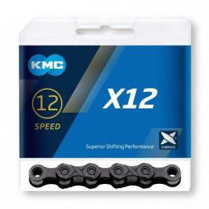 """Lant KMC """"X12 Blacktech"""" 12 viteze 126 zale"""