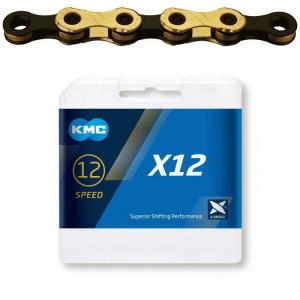 Lant KMC X12 Ti-N Gold/Negru 126 Zale