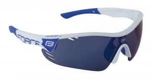 Ochelari Force Race Pro albi lentila albastru laser