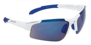 Ochelari Force Sport albi cu lentila albastra