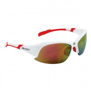 Ochelari Force Ultra albi cu lentila rosie