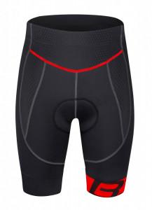 Pantaloni Force B30 Cu Bazon din Gel Negru/Rosu L