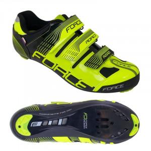 Pantofi Force Spike Road fluo/negru 41
