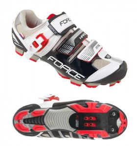 Pantofi MTB Hard Force negru/alb 44
