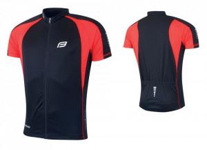 Tricou ciclism Force T10 negru/rosu XXL