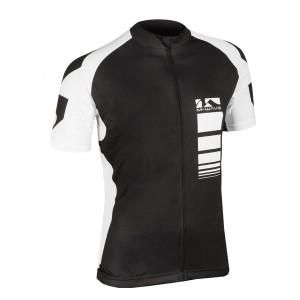 Tricou Ciclism M-WAVE Alb/Negru L