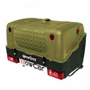 Cutie portbagaj pe carligul de remorcare Towbox V1 Verde
