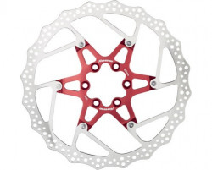 Disc frana Reverse Discrotor 180mm aluminiu/otel rosu