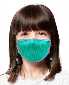 Masca sportiva pentru copii Naroo FU+ cu filtrare particule XS Turcoaz