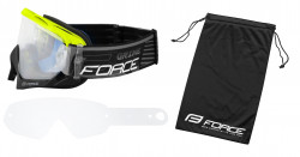 Ochelari Force GRIME negru-fluo lentile transparente + 10 tear offs