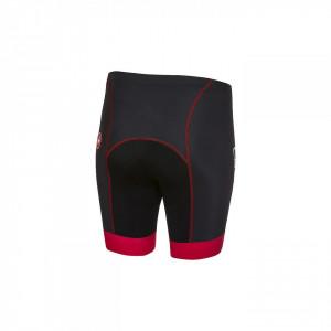 Pantaloni scurti Castelli Future Racer Kid, pentru copii Negru-Rosu 6A