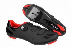 Pantofi ciclism FLR F-11 Pro Road - Negru/Rosu 45