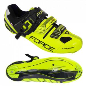 Pantofi Force Road Carbon verde fluo/negru 42