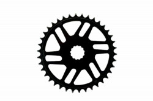 Placa pedalier KMC 38T Direct Mount Bosch Neagra