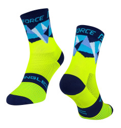 Sosete Force Triangle fluo/albastre S-M