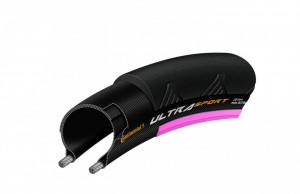 Anvelopa Continental UltraSport2 25-622 (700-25C) negru/roz