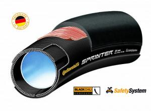 Anvelopa tubulara Continental Sprinter 28*25mm negru