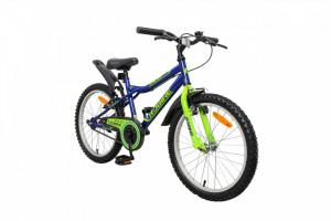 Bicicleta copii Robike Racer 20 albastru/verde